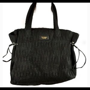 Victoria's Secret Large Black Textured Tote 'NEW'